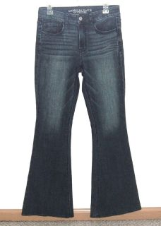 Womens 8 American Eagle Hi Rise Artist SUPER Stretch Flare Jeans