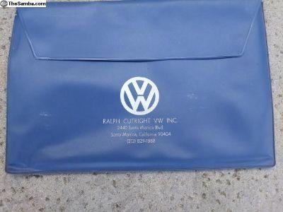 Ralph Cutright VW Blue Owner's Manual Folder