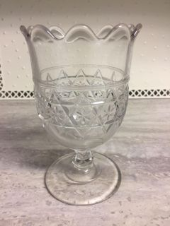 "Antique Victorian Collectible Glass Spooner / Spoon Holder. 6"" Tall in Excellent Condition! CP."