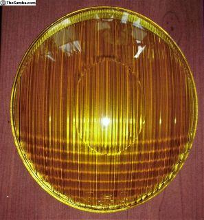 Split Oval Headlight Lens HELLA Yellow NEW PART!