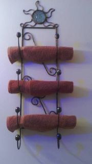 Metal and Glass Towel Racks
