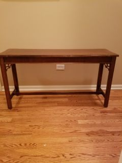 "Library Table 27""H x 50""W x 16"" D"