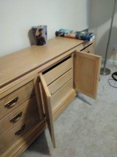 Dresser with mirror, $185