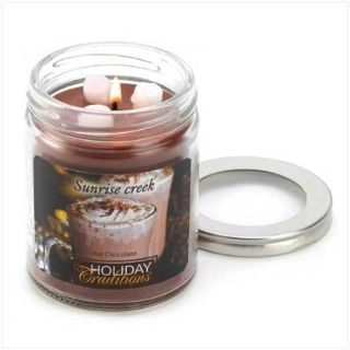 45-hrs Soy Scented Lidded Jar Candle ~ Hot Chocolate ~ New