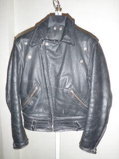 full thickness leather motorcycle jacket with detatchable fur collar