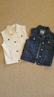 Denim vests - excellent condition - size 7/8 (would be willing to sell separately)