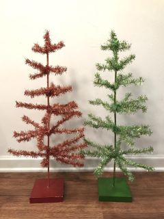 Red & Green Bendable Christmas Trees