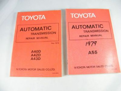 Buy (2) 1979 TOYOTA OEM ORIGINAL AUTOMATIC TRANSMISSION REPAIR MANUALS A40D, A42D motorcycle in Bellingham, Washington, United States, for US $39.00