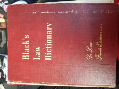 Black's Law Dictionary De Luxe 4th Edition