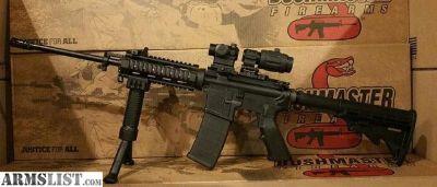 For Sale: Bushmaster w/ Red Dot 3x Magnifier 45 degree sights Quad Rail and Bi Pod AR 15 XM15 QRC AR15 Rifle