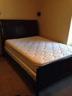 MOVING SALE - QUEEN MATTRESS SET  HEADBOARD, FRAME, FOOTBOARD