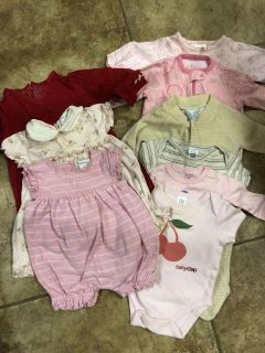 Baby Girl Clothing - NB to 6 mos