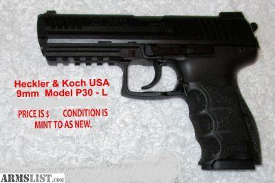 For Sale: H & K P30L