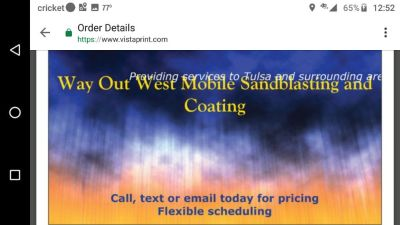 Way out West Mobile sandblasting and coating