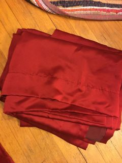 Set of Five Red Curtains