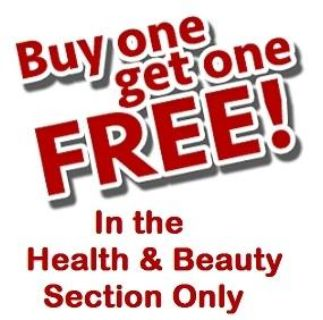 Buy 1 Get 1 Free of Equal or Lesser Value