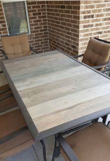 ISO patio table