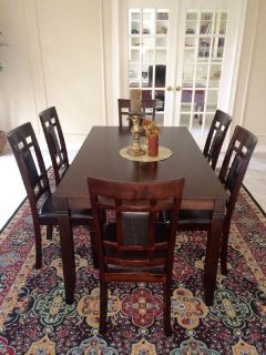 New In Box- 7 pc Dining Set with 6 Padded chairs