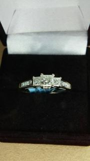 Size 9 high quality diamond engagement ring