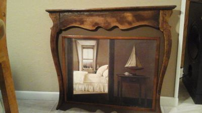 Antique Dresser Mirror Converted Into Vintage Picture