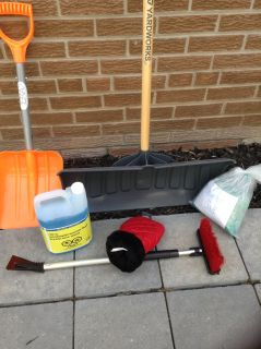 Snow shovels and other winter goods