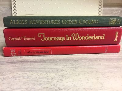 3 Vintage Alice in Wonderland Books in Very Good Condition! CP.