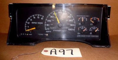 Buy TAHOE GMC SUBURBAN SPEEDOMETER INSTRUMENT CLUSTER GAS 109K16221455 US OEM ACS motorcycle in Sylvester, Georgia, United States, for US $99.88