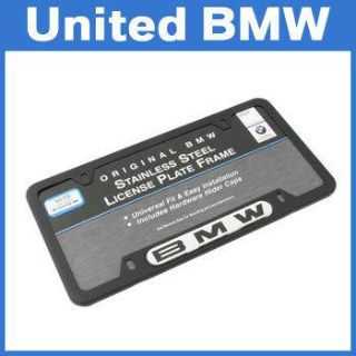 Purchase Genuine BMW Black Stainless Steel License Plate Frame motorcycle in Roswell, Georgia, US, for US $30.00