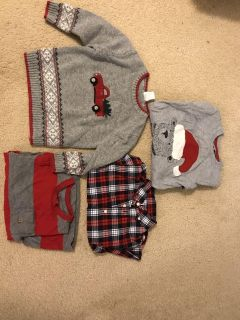 4T Christmas Sweater and Shirts