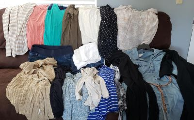 Maternity clothes size large