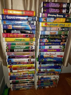 102 Children's VHS movies - will not sell separately