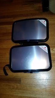 Strap on Convex Mirrors For Tow Vehicle