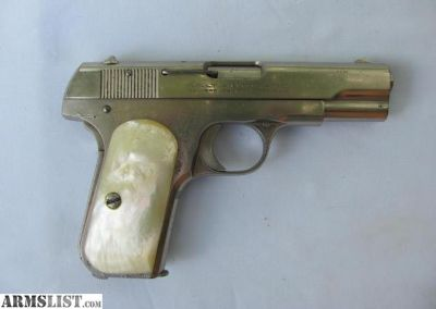 For Sale: Colt 1908 .380 nickel, w/pearl grips