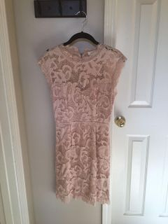 Brand New Without Tag Beautiful Lace Blush Colored Dress