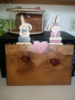 Vintage, Wood, Bunny Board - Hanging Country Decor