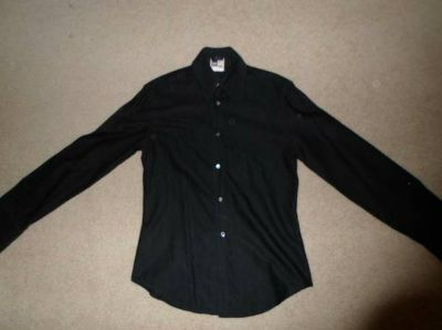 Versace French Cuff Collared Shirt - Black Small