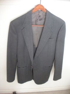 botony 500 gladiator gray 2 button blazer, taylored in usa, slim, appear 36 long
