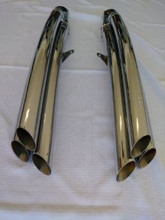 Cobra chrome exhaust pipes for Honda Goldwing F6B