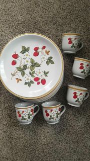 Lot of heavy duty Stoneware plates and cups-