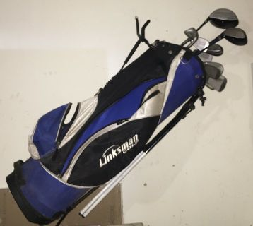 Linksman Golf Clubs and Caddy great deal!!
