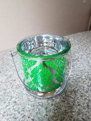 5 INCH, GLASS MIRROR CANDLE HOLDER, EXCELLENT CONDITION, SMOKE FREE HOUSE