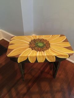HAND PAINTED ARTWORK BENCH