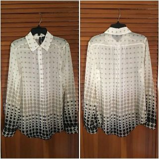 Button Down Blouse - Size Small