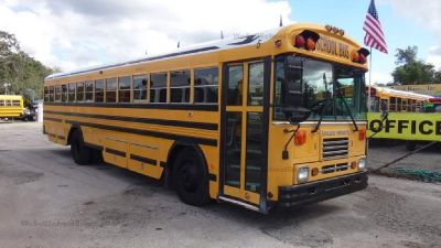 1999 Bluebird Flat Nose School Bus- No Seats- Curbside Storage