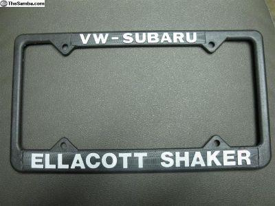 Ellacott Shaker VW plastic license plate frame
