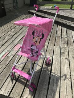 Minnie Mouse stroller with umbrella