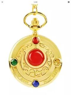 Sailor moon pocket watch with neck chain.New can be made men s pocket watch.Unisex new
