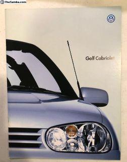 VW Golf Cabriolet Japanese Brochure