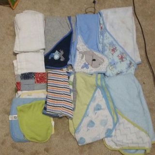 Lot of towels and burping cloths