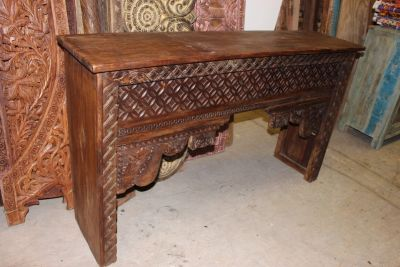 Antique Haveli Doors Teak Wood Media Console Reclaimed Farmhouse Furniture
